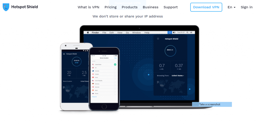 Hotspot Shield is best free vpn for torrenting