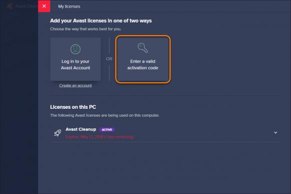 Avast cleanup premium license code