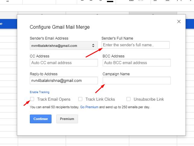 Gmail mail merge