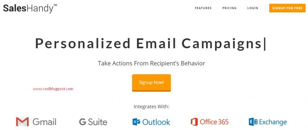 salesHandy Mail merge in gmail