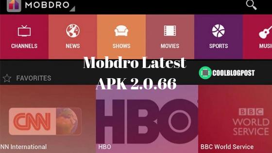 Mobdro Latest APK 2.0.66